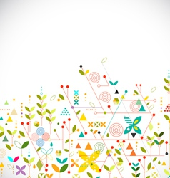 Abstract geometric template go green concept vector image