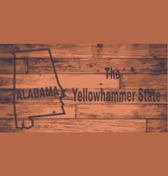 alabama map brand vector image