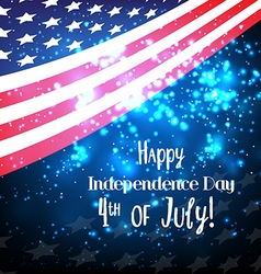 American Flag background for Independence Day and vector