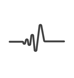 art design heartbeat pulse vector image