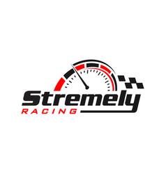 Automotive speed logo design vector