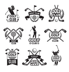 badges or logos for golf club monochrome pictures vector image