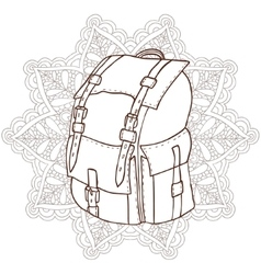 Bag with an ornament in the background vector