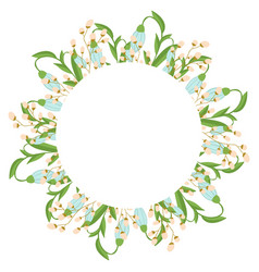 beautiful easter wreath elegant floral frame hand vector image