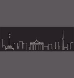 berlin single line simple minimalist skyline vector image
