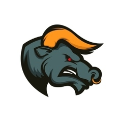 Bull mascot Emblem for sport team or club vector