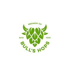 Bulls hops logo vector