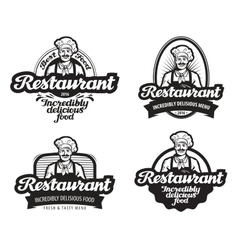 Cafe restaurant logo diner or eatery icon vector