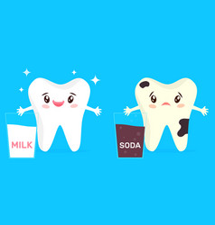 cartoon bright healthy tooth vector image