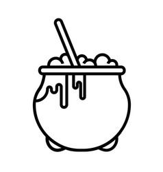 Cauldron line vector