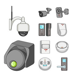 Cctv and camera icon set vector