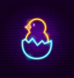 chick neon sign vector image