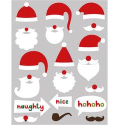 Christmas Santa Claus set vector