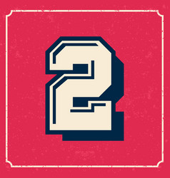 college cheerleader style american vintage font vector image