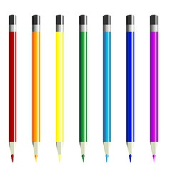 color pencils over white vector image