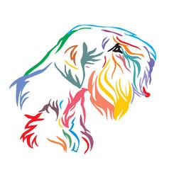 Colorful decorative portrait of dog sealyham vector