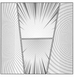 Comic page monochrome design composition vector