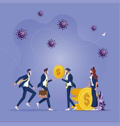 covid19-19 coronavirus outbreak financial crisis vector image