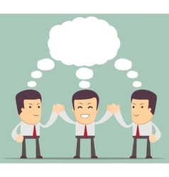 Creative people Successful dream team vector