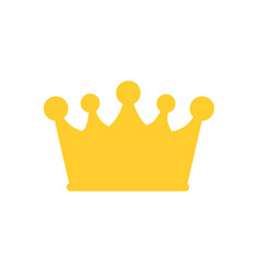 Crown icon isolated on white flat vector