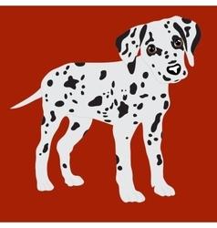Dalmatians cute puppy sad vector image
