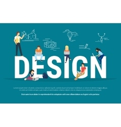 Design concept of young people using vector