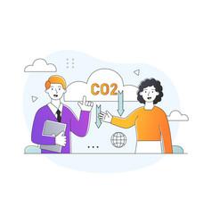 Dioxide emissions concept vector