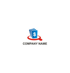 dollar money search company logo vector image