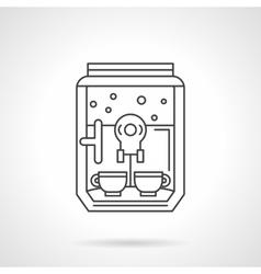 Domestic coffee machine flat line icon vector