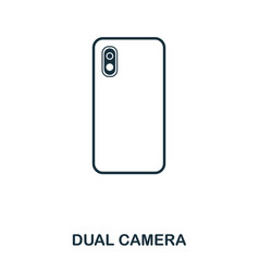 dual camera icon mobile app printing web site vector image