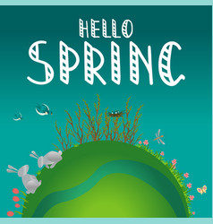 earth concept hello spring vector image