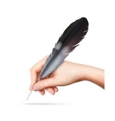 Feather In Hand vector