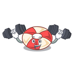 Fitness swim tube character cartoon vector