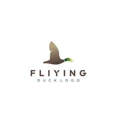 flying duck logo design vector image