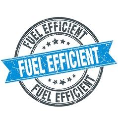 Fuel efficient blue round grunge vintage ribbon vector