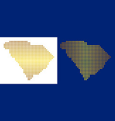 Gold abstract south carolina state map vector