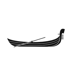 Gondola icon simple style vector image