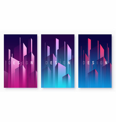 gradient geometric abstract backgrounds vector image
