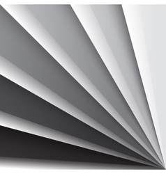 Grey shiny paper layers with realistic shadows vector