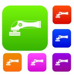 grinder machine set color collection vector image