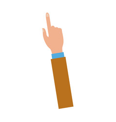 hand with index finger pointing up icon vector image
