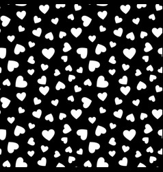 hearts seamless pattern february 14 vector image