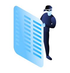 hide hacker action icon isometric style vector image