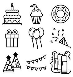 icon happy new year vector image