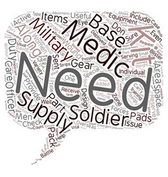 Is your military medical kit adequately stocked vector
