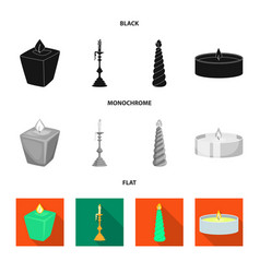 Isolated object relaxation and flame sign set vector