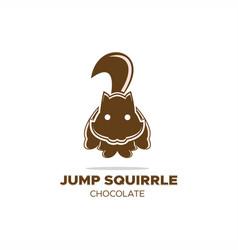 jump squirrel logo vector image