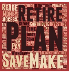 K retirement plan text background wordcloud vector