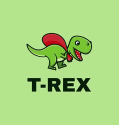 Logo t-rex simple mascot style vector