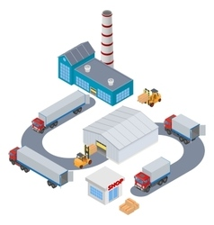 Manufacture Logistic Infographic vector image